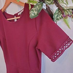 Miami Maroon Textured Dress